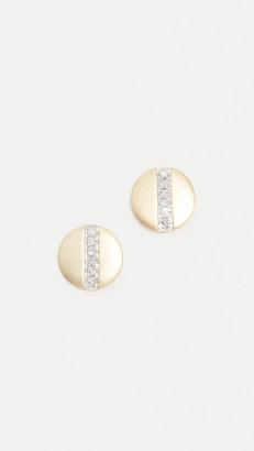 Meira T 14k Diamond Bar Disc Studs