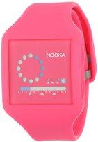 Nooka Unisex ZUB-ZIRC-NP-20 Zub Zirc Neon Pink PolyurethaneWatch