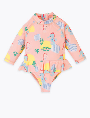 Marks and Spencer Seahorse Long Sleeve Swimsuit (0-3 Yrs)