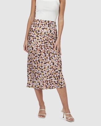 Charlie Holiday Bella Midi Slip Skirt