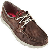 Skechers On-the-GO Embossed Lace-up Boat Shoes - Tide