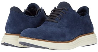Cole Haan Original Grand Ultra Plain Toe Ox (Vintage Indigo Suede/Ivory) Men's Shoes