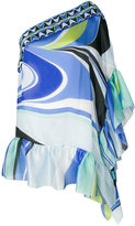 Emilio Pucci one-shoulder kaftan dress - women - Silk - One Size