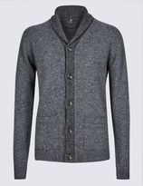 Marks and Spencer Lambswool Rich Shawl Collar Cardigan