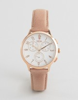 Fossil Abeline Rose Gold & Sand Leather Watch