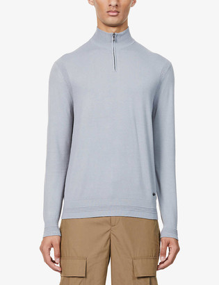 Emporio Armani Funnel-neck knitted jumper