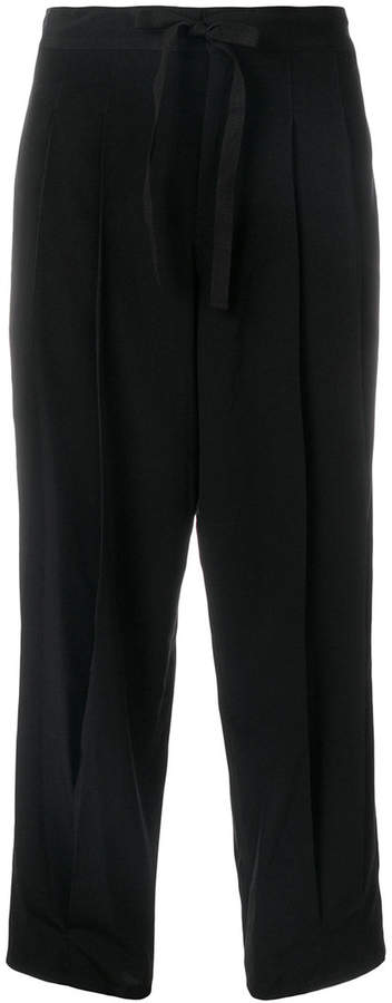 Y's pleated tie waist trousers