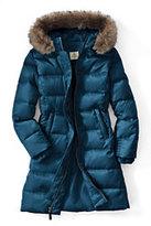 Classic Little Girls Fashion Down Coat-Deep Slate