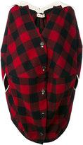 Marni check buttoned coat