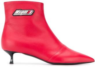 MSGM kitten heel ankle boots