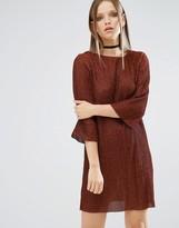 Asos Bronze Dolman Sleeve Mini Dress