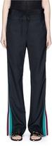 Tibi 'Dempsey' double waist stripe trim suiting pants