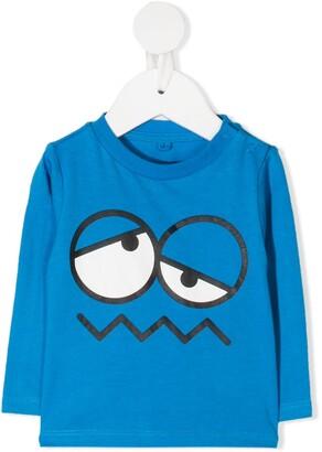 Stella McCartney Kids emoji face-print T-shirt