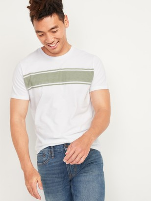 Old Navy Soft-Washed Chest-Stripe Crew-Neck Tee for Men