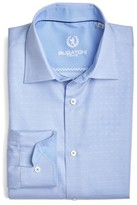 Bugatchi Men's Trim Fit Solid Dress Shirt