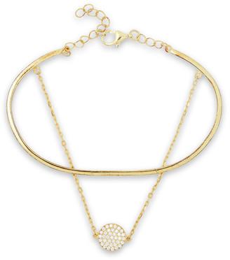 Shashi Sparkling Sky 18-karat Gold-plated Crystal Bracelet