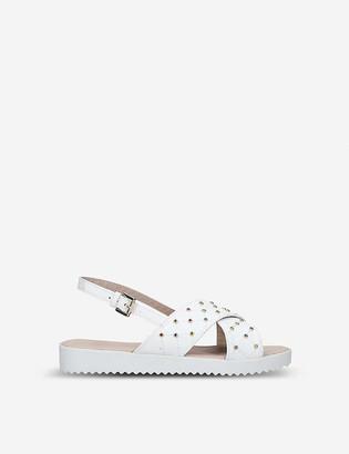 Kurt Geiger Bon Bon Gem embellished faux-leather sandals 4-7 years