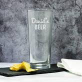 Mirrorin Personalised Beer Pint Glass