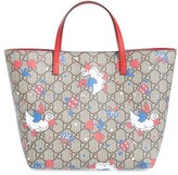 Gucci Infant Girl's Duck Supreme Logo Canvas Tote - Pink