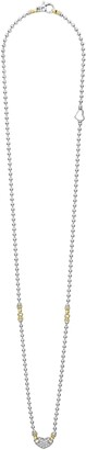 Lagos Beloved Diamond Pave Heart Chain Necklace