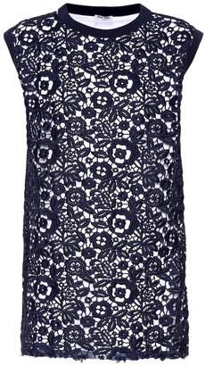 Miu Miu Lace cotton-blend top