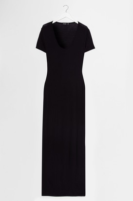 Nasty Gal Womens This One's on Tee Maxi Dress - Black