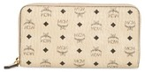 MCM Women's Visetos Coated Canvas Zip Wallet - Beige