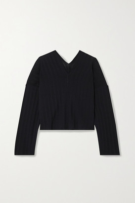 LE 17 SEPTEMBRE Ribbed-knit Sweater - Navy