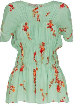 Preen Line Floral Ruched Lilou Top