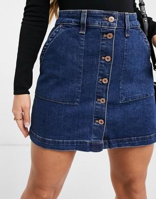 J.Crew J Crew denim button-front mini skirt