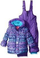 Pink Platinum Girls' Infant Fair Isle Print Snowsuit