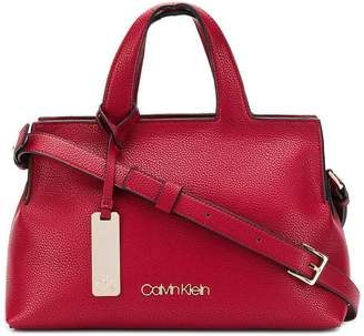 Calvin Klein pebbled faux leather tote