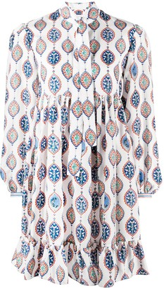 Chloé Boho-Print Silk Shirtdress
