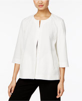 Eileen Fisher Organic Cotton-Blend Open-Front Jacket