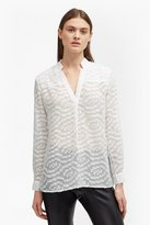 French Connection Ruby Sheer Textured Shirt