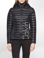 Calvin Klein Logo Featherweight Down Packable Jacket