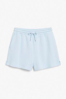Monki Cotton sweat shorts