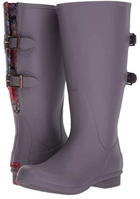 Chooka Versa Prima Wide Calf Tall Boot (Mulberry) Women's Rain Boots