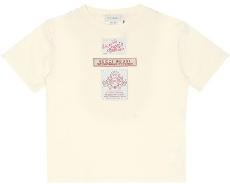 Gucci Kids Label cotton-jersey T-shirt