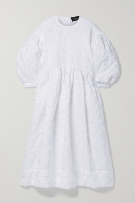 Simone Rocha Cloque Midi Dress - White