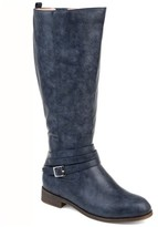 Brinley Co. Comfort by Womens Extra Wide Calf Strap Riding Boot