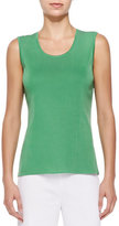 Misook Knit Scoop-Neck Tank Top, Green, Plus Size