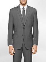 Calvin Klein Mens Classic Fit Grey Ministripe Suit Jacket