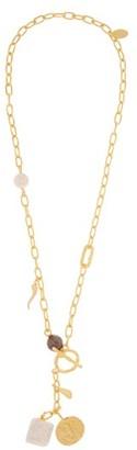 Lizzie Fortunato Scorpion Lariat Multi-pendant Gold-plated Necklace - Womens - Gold