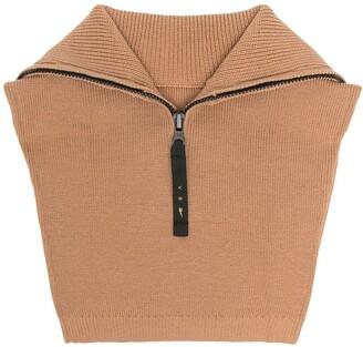 Reebok x Victoria Beckham Zip-Up Wool-Blend Neck Warmer