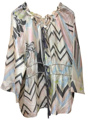 M Missoni Beige Silk Top for Women