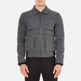 Carven Zipped Blouson Jacket Gris Grenat
