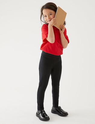 Marks and Spencer Girls' Skinny Leg Knitted School Trousers