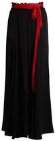 Ellery Milk waist-tie stretch-silk maxi skirt