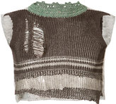Vivienne Westwood distressed knit cropped vest